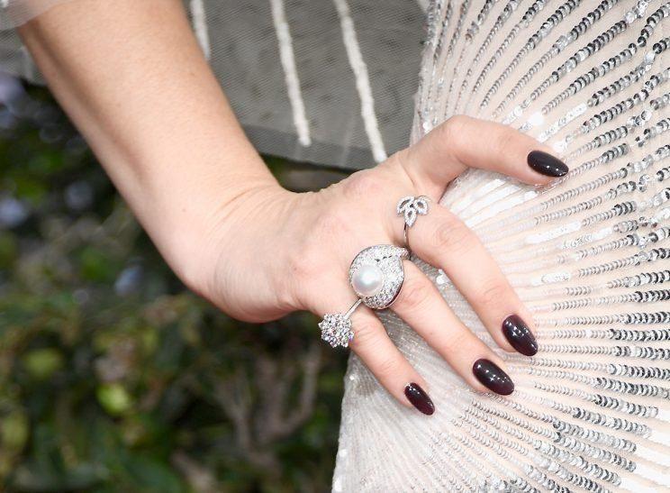 Drew Barrymore's Harry Winston rings. Photo: Getty Images