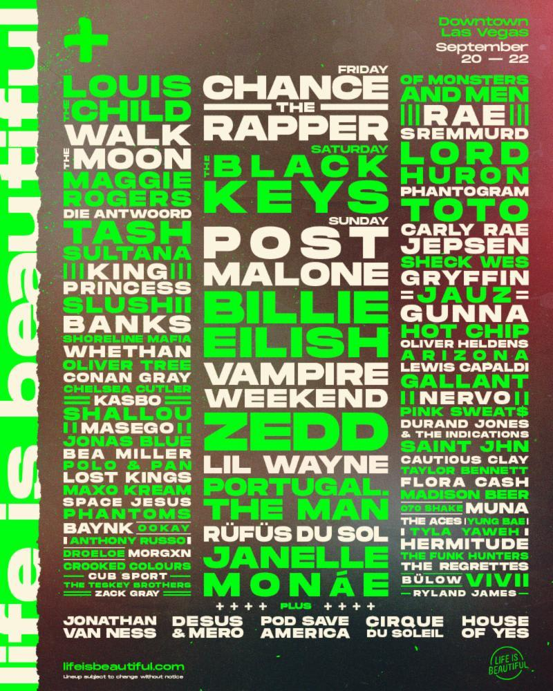 41bbcc877f13 Chance the Rapper, Billie Eilish, Lil Wayne, Post Malone, and More ...