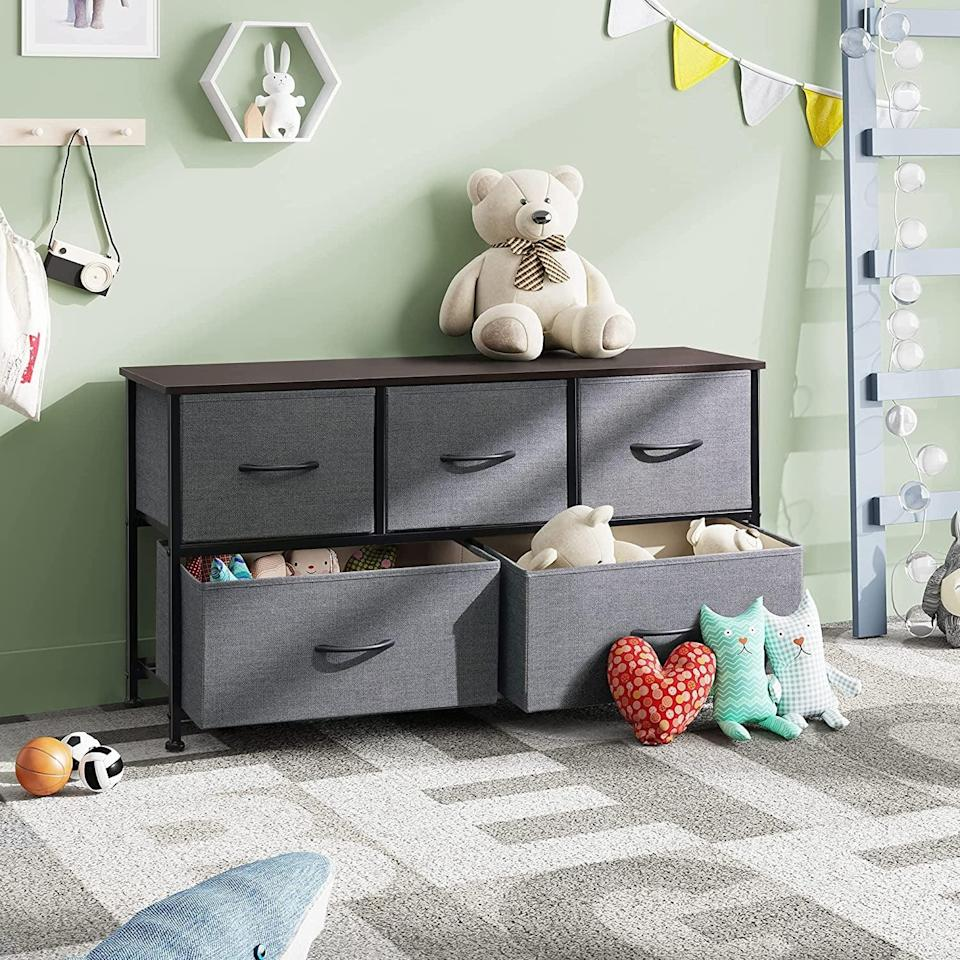 """<p>The <span>WLive Dresser with 5 Drawers</span> ($64-$66) is a great way to instantly add storage to any room. It can serve as an entryway table or can be perfect for the kids' play room. The drawers are removable and foldable as well! It comes in both """"very good"""" and """"like new"""" conditions. </p>"""