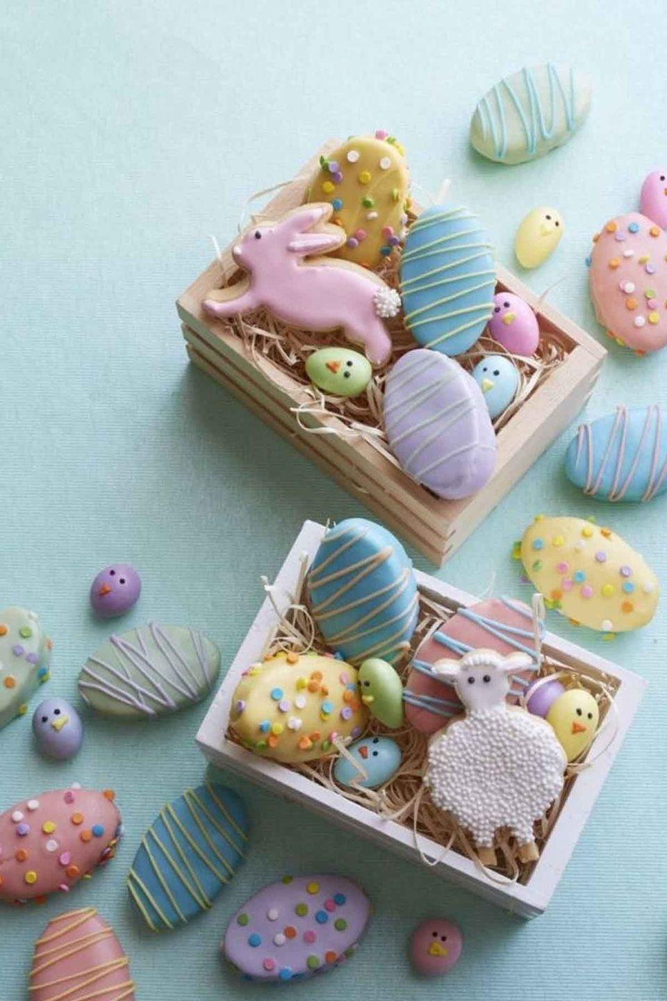 """<p>These mini cakes can be decorated in the prettiest pastel Easter colors, and they'll be adored by your guests. </p><p><strong><em><a href=""""https://www.womansday.com/food-recipes/recipes/a53965/mini-vanilla-egg-cakes-recipe/"""" rel=""""nofollow noopener"""" target=""""_blank"""" data-ylk=""""slk:Get the Mini Vanilla Egg Cakes recipe."""" class=""""link rapid-noclick-resp"""">Get the Mini Vanilla Egg Cakes recipe. </a></em></strong></p>"""