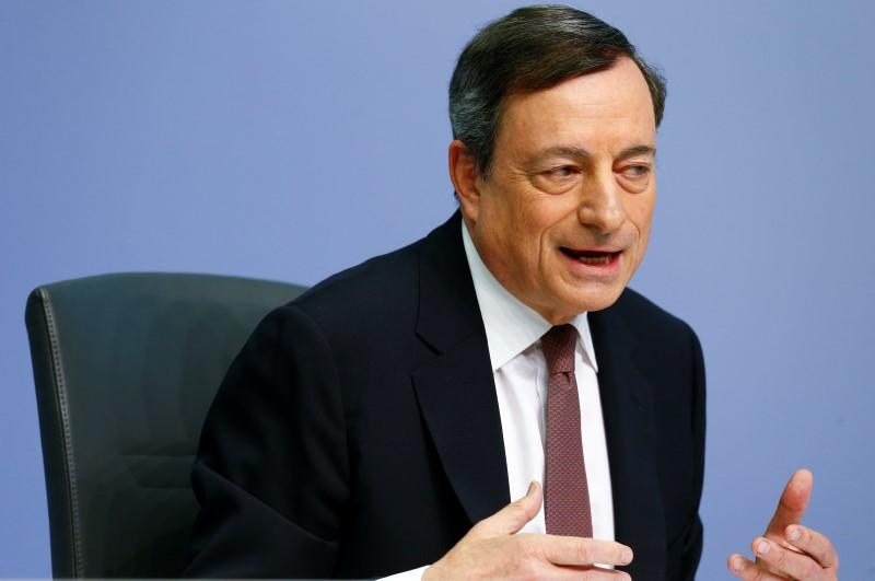 European Central Bank (ECB) President Draghi speaks during a news conference at the ECB headquarters in Frankfurt