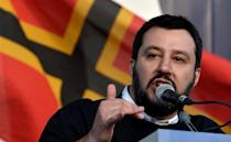 """The leader of Italy's anti-immigrant Northern League party, Matteo Salvini did offer to put up a refugee in his Milan flat -- providing it was """"someone who is really fleeing war"""" (AFP Photo/Tiziana Fabi)"""