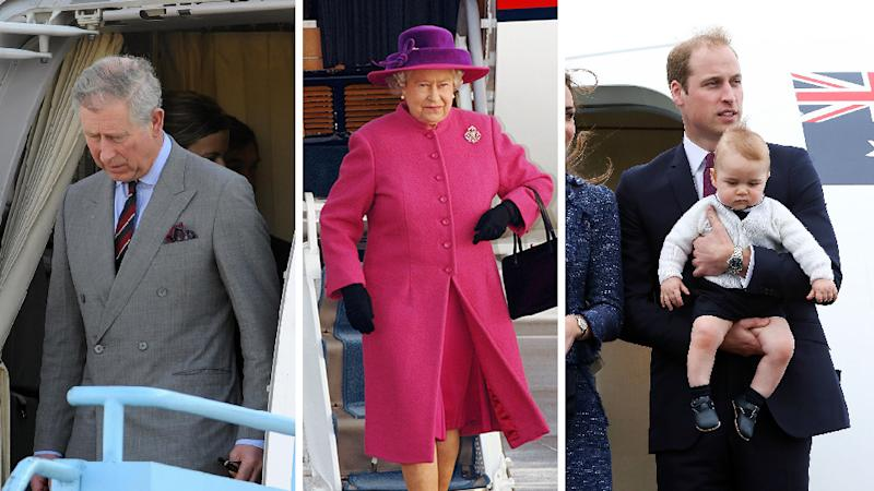 Prince Charles, The Queen and Prince William all travel with a bag of blood. Photo: Getty Images