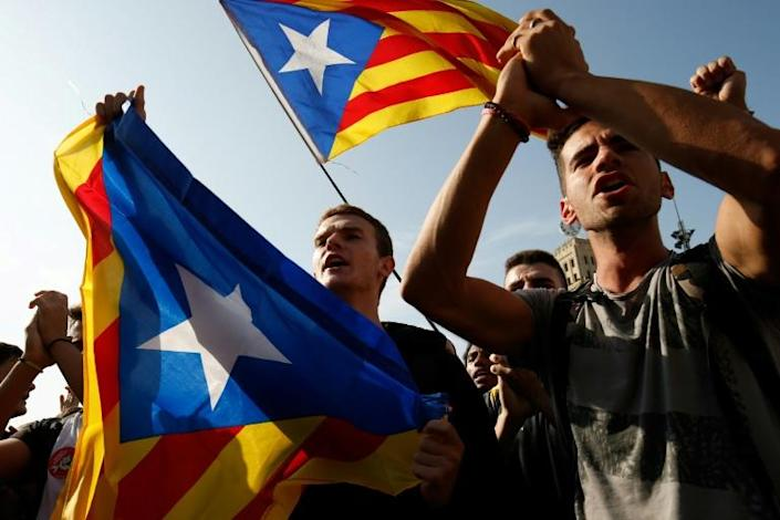 The sentence has provoked an angry response from Catalan separatists (AFP Photo/Pau Barrena)