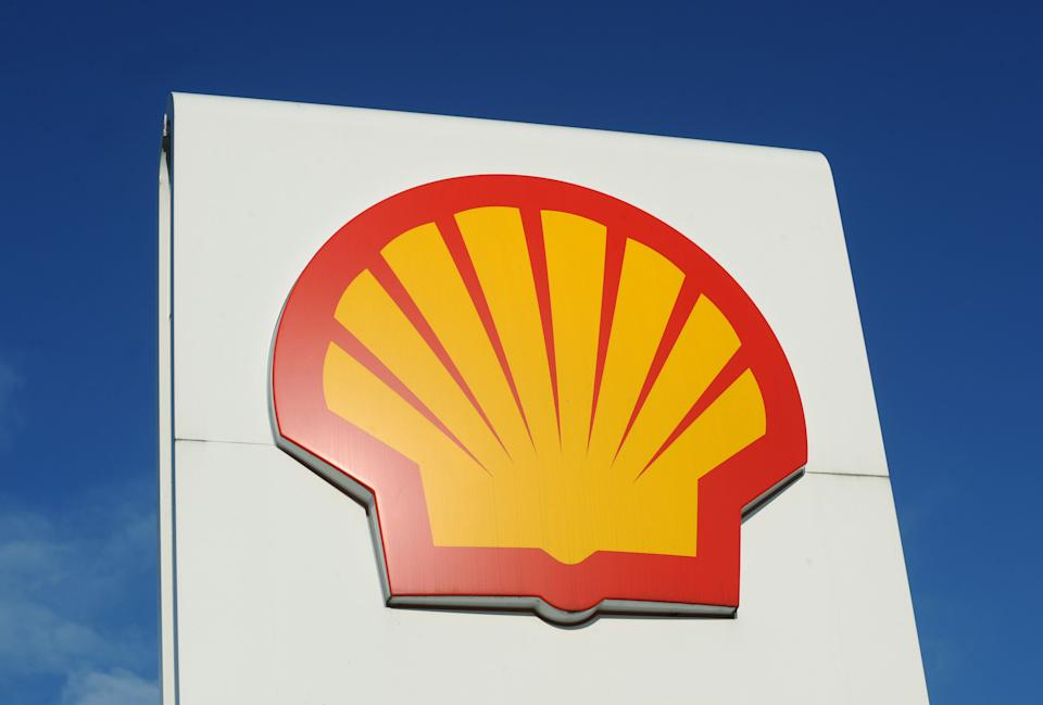 File photo dated 3/2/2011 of the logo for Shell, which has said it plans to cut between 7,000 and 9,000 jobs worldwide following a collapse in demand for oil amid the coronavirus pandemic.