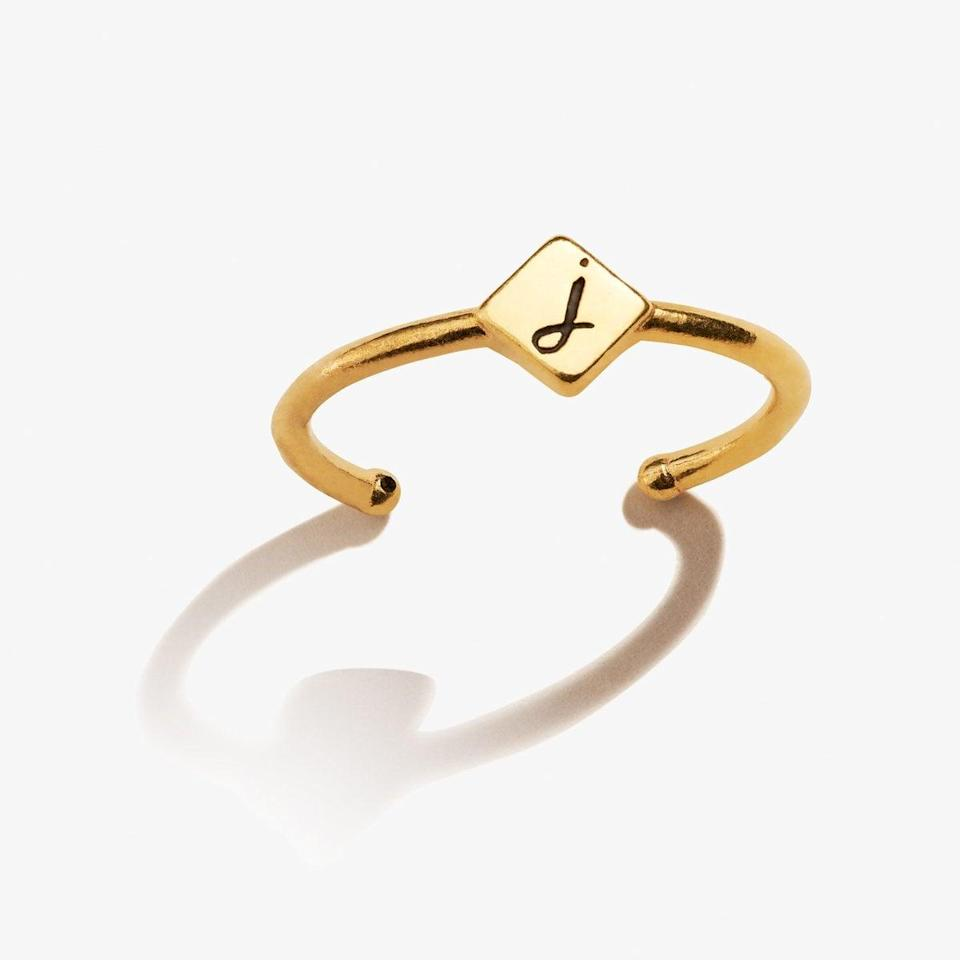 <p>This <span>Alex and Anni Initial J Ring</span> ($38) makes a chic addition to any jewelry box.</p>