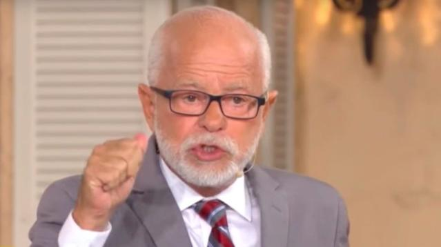 "Disgraced televangelist Jim Bakker claims the phrase ""Merry Christmas"" had been banned by the government."