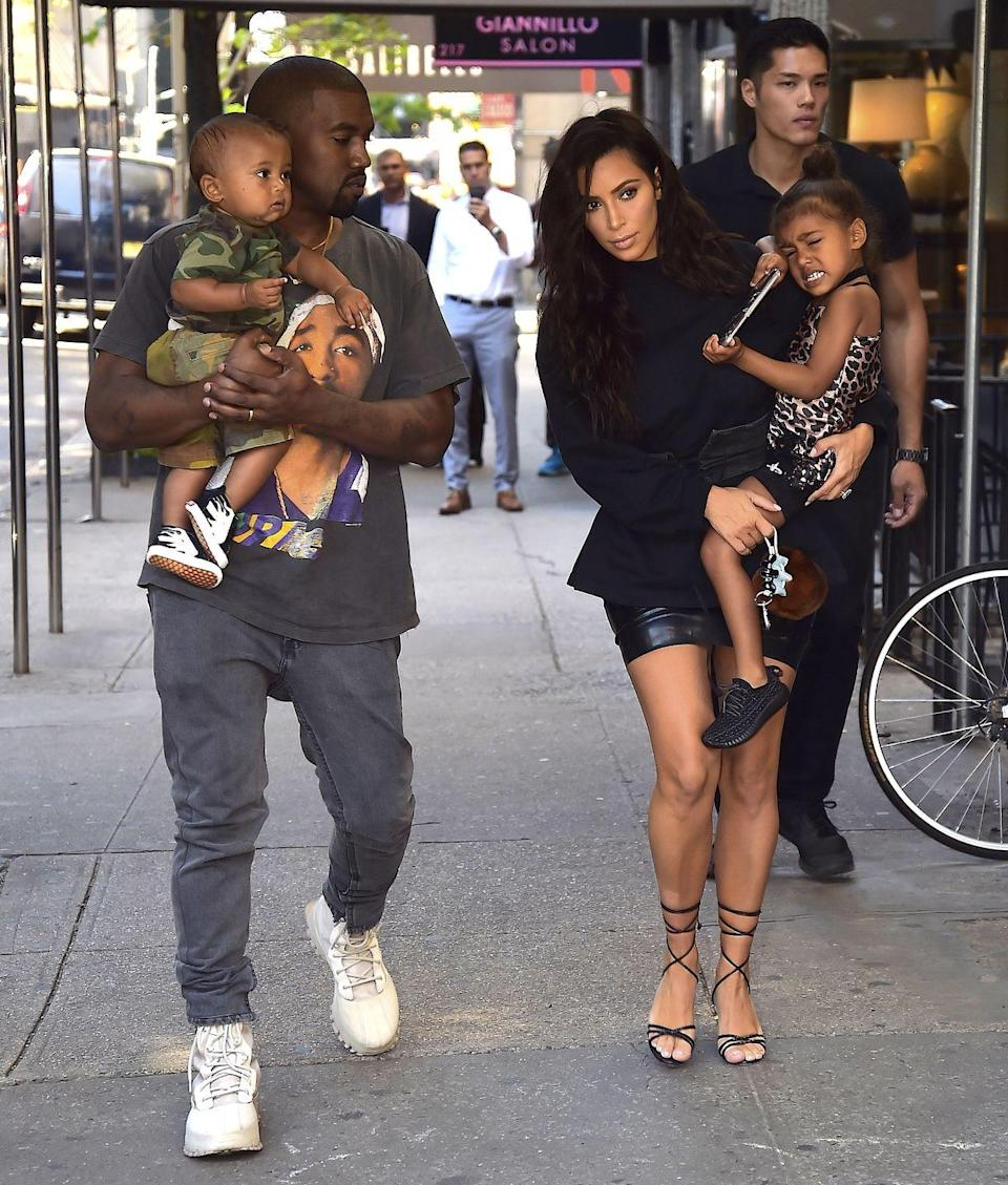 <p>Children's names:</p><p><strong>North West</strong></p><p><strong>Saint West</strong></p><p><strong>Chicago West<br></strong></p><p><strong>Psalm West<br></strong></p>