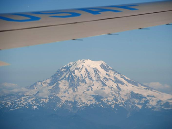 Mt Rainier seen from Air Force One in 2012 (AFP via Getty Images)