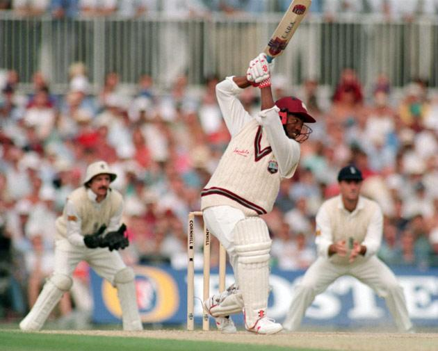 26 AUG 1995:  BRIAN LARA OF THE WEST INDIES IN ACTION DURING THE SIXTH TEST MATCH BETWEEN ENGLAND AND THE WEST INDIES AT THE OVAL CRICKET GROUND, LONDON. Mandatory Credit: Graham Chadwick/ALLSPORT
