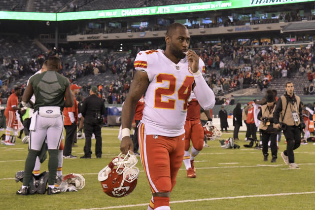Cornerback Darrelle Revis was released by the Chiefs on Thursday. (AP)
