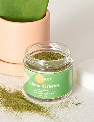 Mascarilla facial GOLDE Clean Greens con superalimentos comestibles (Foto: Amazon).