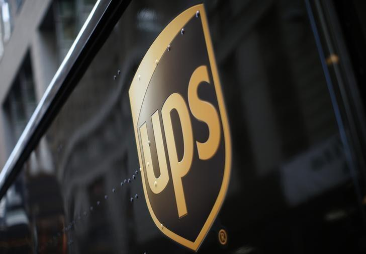A UPS delivery truck is seen in New York City