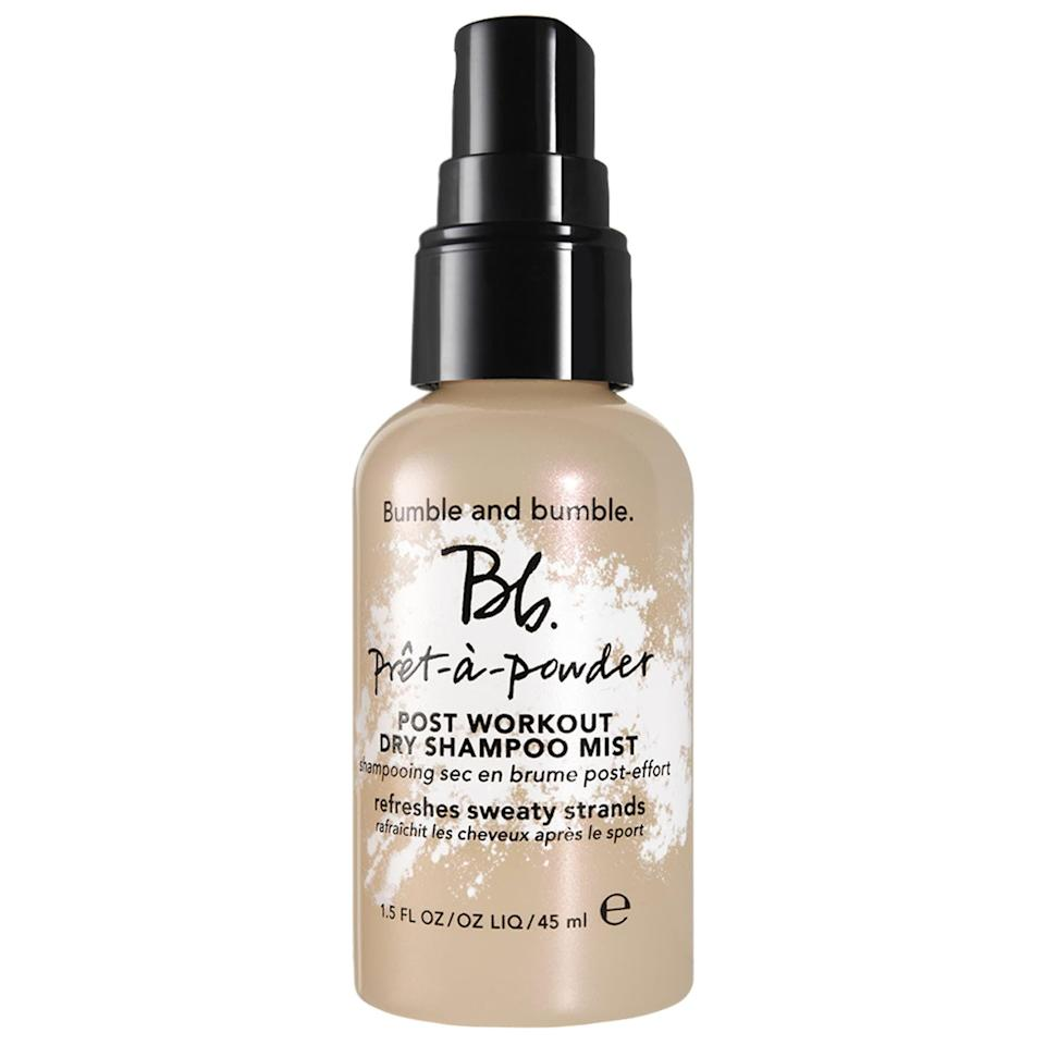 "<p>""I knew my usual dance-cardio class would be the real test for the <span>Bumble and Bumble Pret-a-Powder Post Workout Dry Shampoo Mist</span> ($30). (Cardio typically leaves me drenched in sweat, so I usually need to wash my hair immediately after.) This time, I took a quick body shower, then turned my attention to my hair. I'll admit that I was dubious at first - how was making my hair even wetter going to help the situation? Still, I dutifully towel-dried the sweatiest parts of my hair, sprayed the mist all over my head, waited 30 seconds, and brushed it out. As soon as my hair started to air-dry, I noticed a difference. Though my strands were still damp, they didn't feel oily or sweaty anymore. Instead, my hair felt soft and - dare I say - fresh."" - Annalise Mantz, editor, native</p>"