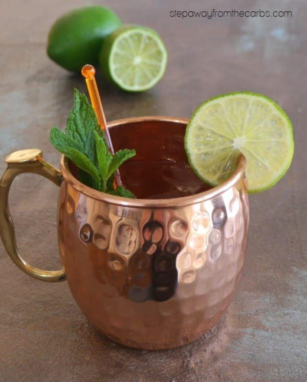 """<p>Yes, you can have a Moscow Mule while dieting. This drink from <a href=""""https://www.ibreatheimhungry.com/low-carb-moscow-mules-sugar-free/"""" rel=""""nofollow noopener"""" target=""""_blank"""" data-ylk=""""slk:I Breathe I'm Hungry"""" class=""""link rapid-noclick-resp"""">I Breathe I'm Hungry</a> calls for a homemade ginger syrup to help lower carb count. Mix it with diet ginger beer, vodka, and lime juice for a refreshing drink. </p>"""