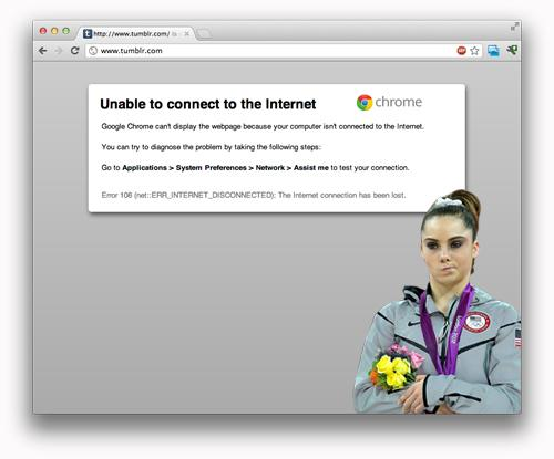 McKayla Maroney is not impressed with the Internet.