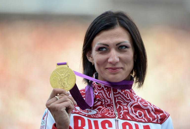 Natalya Antyukh has been banned for four years for doping but will retain the women's 400m hurdles title she won at the 2012 London Olympics