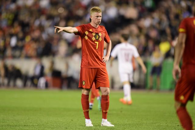 <p>Kevin De Bruyne is part of the Belgium squad valued at €835m. </p>
