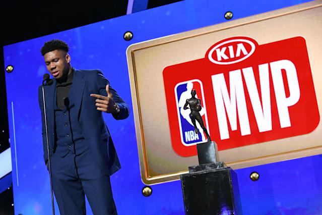 Bucks superstar Giannis Antetokounmpo is an unrestricted free agent in 2021. (Getty Images)