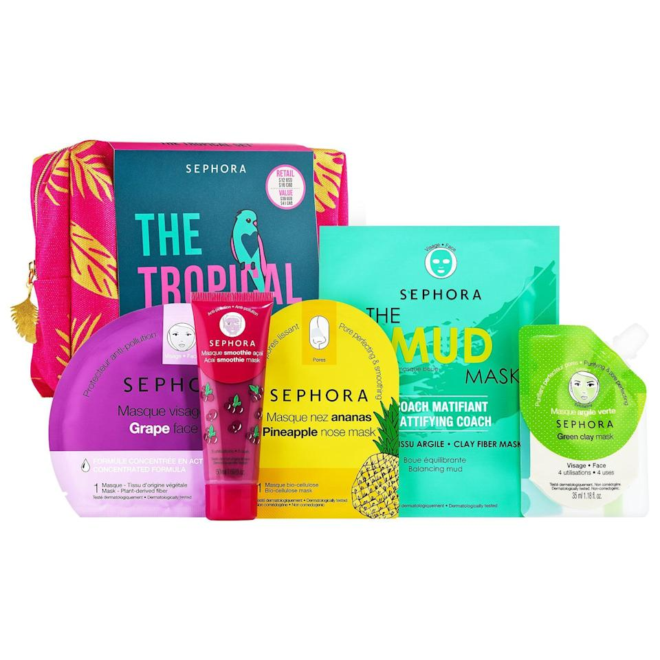 """<p><strong>SEPHORA COLLECTION</strong></p><p>sephora.com</p><p><strong>$12.00</strong></p><p><a href=""""https://go.redirectingat.com?id=74968X1596630&url=https%3A%2F%2Fwww.sephora.com%2Fproduct%2Fsephora-collection-my-tropical-pouch-P463941&sref=https%3A%2F%2Fwww.womansday.com%2Flife%2Fg24378973%2Fbest-gifts-for-boss%2F"""" rel=""""nofollow noopener"""" target=""""_blank"""" data-ylk=""""slk:Shop Now"""" class=""""link rapid-noclick-resp"""">Shop Now</a></p><p>Help your boss relax after a long day at the office with this mask kit. It includes mud masks and sheet masks, and comes with a makeup bag that one reviewer says """"has a lot of space for tons more outside what's in this set.""""</p>"""