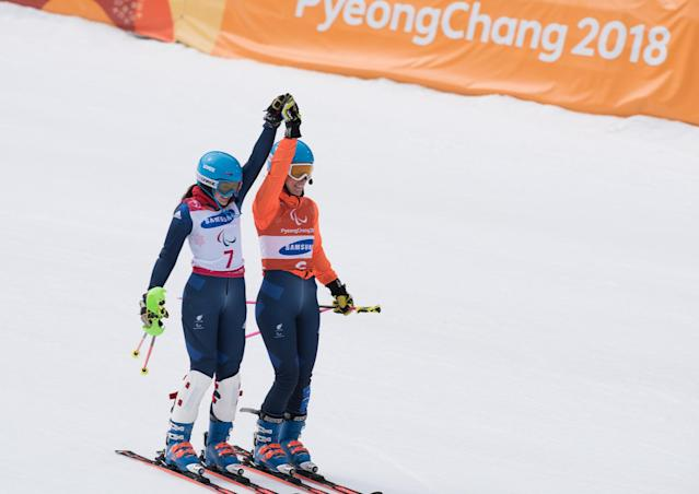 Winter Paralympics: Golden day for speechless skier Kehoe with history in PyeongChang