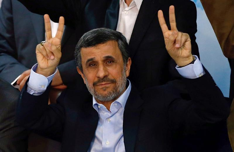 Former Iranian president Mahmoud Ahmadinejad remains popular but was barred from running in last year's election (AFP Photo/ATTA KENARE)