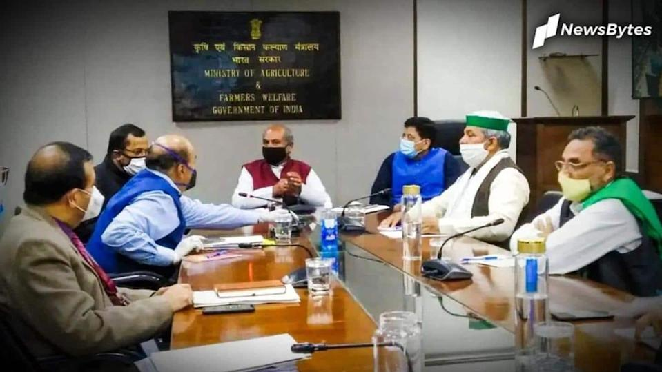 Government meets farmers: No headway after eighth round of talks