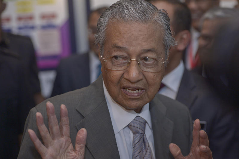 Dr Mahathir said acceding to global treaties and conventions did not mean Malaysia would apply any portions that contradict the Federal Constitution. — Picture by Mukhriz Hazim