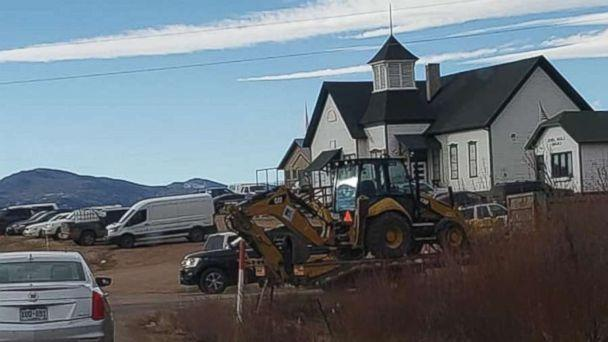 PHOTO: Authorities brought in an excavator to begin digging on the property of Patrick Frazee in Florissant, Colo., on Saturday, Dec. 15, 2018. Frazee's fiancee has been missing for 24 days. (Lacey Davis)