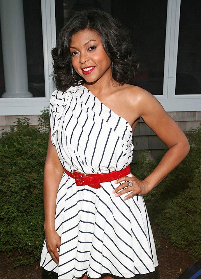 """Oscar nominee Taraji P. Henson rocked a fun and flirty mini dress. She and other guests were invited to bid on more than 60 items up for auction, including two tickets to meet Justin Timberlake. Anyone can bid through August 10 at charitybuzz.com. Rob Kim/Getty Images/<a href=""""http://www.filmmagic.com/"""" target=""""new"""">FilmMagic.com</a> - July 30, 2011"""