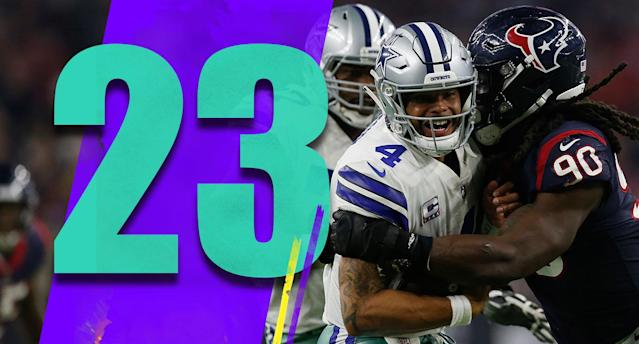 <p>The clock started ticking on Jason Garrett when he punted on fourth-and-1 in Texans territory in overtime Sunday night. (Dak Prescott) </p>
