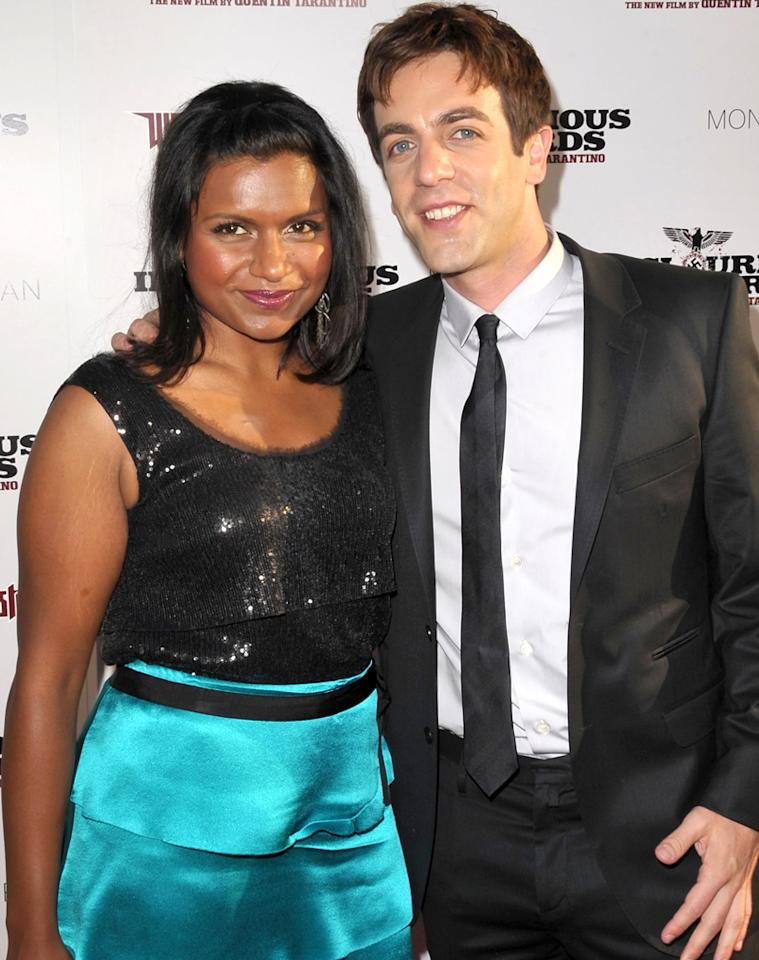 """""""The Office"""" co-stars (and co-writers!) B.J. Novak and Mindy Kaling have dated on and off for the past two years. John Shearer/<a href=""""http://wireimage.com"""" target=""""_blank"""">WireImage</a> - August 10, 2009"""