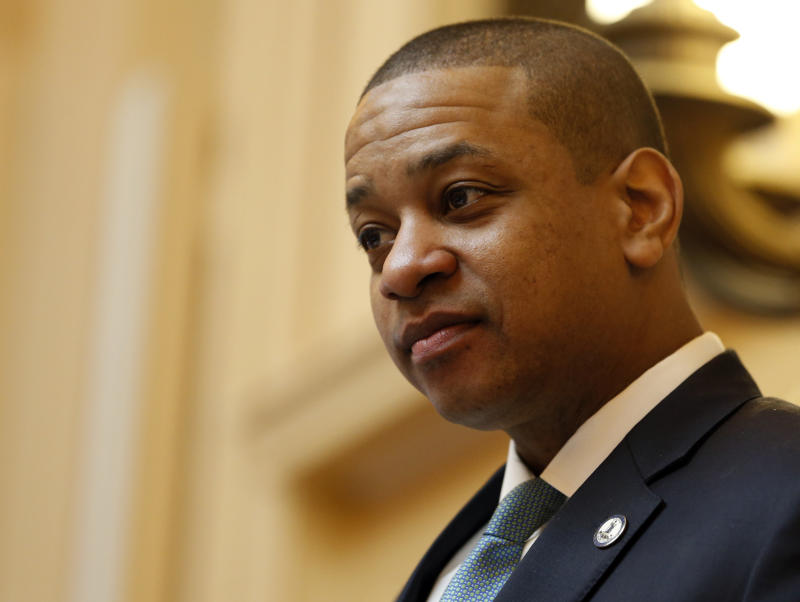 Virginia Lt. Gov. Justin Fairfax, seen presiding over the state Senate in Richmond on Monday, faces calls to resign and threats of impeachment. (Steve Helber/ASSOCIATED PRESS)
