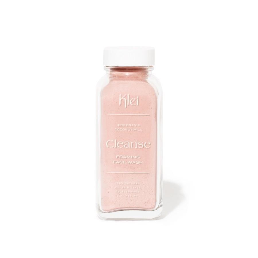 "<p><strong>Klei Beauty</strong></p><p>kleibeauty.com</p><p><strong>$12.00</strong></p><p><a href=""https://kleibeauty.com/collections/foaming-powder-cleanser/products/the-cleanse-powder"" rel=""nofollow noopener"" target=""_blank"" data-ylk=""slk:SHOP IT"" class=""link rapid-noclick-resp"">SHOP IT</a></p><p>I'm VERY obsessed with this clay-based cleanser in powder form. Mix just a little powder with a few drops of water and it works itself into a rich lather that is so calming for the face. It comes in a glass jar (the plastic lid is recyclable) which I will reuse for storage.</p>"