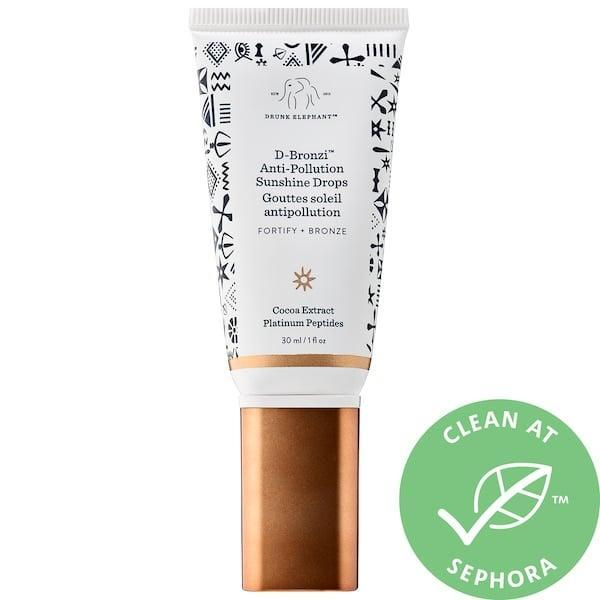 <p>The <span>Drunk Elephant D-Bronzi Anti-Pollution Bronzing Drops</span> ($36) keep skin safe from environmental aggressors, pack major bronzing power, and include antioxidant-rich cocoa and grape seed extracts. </p>