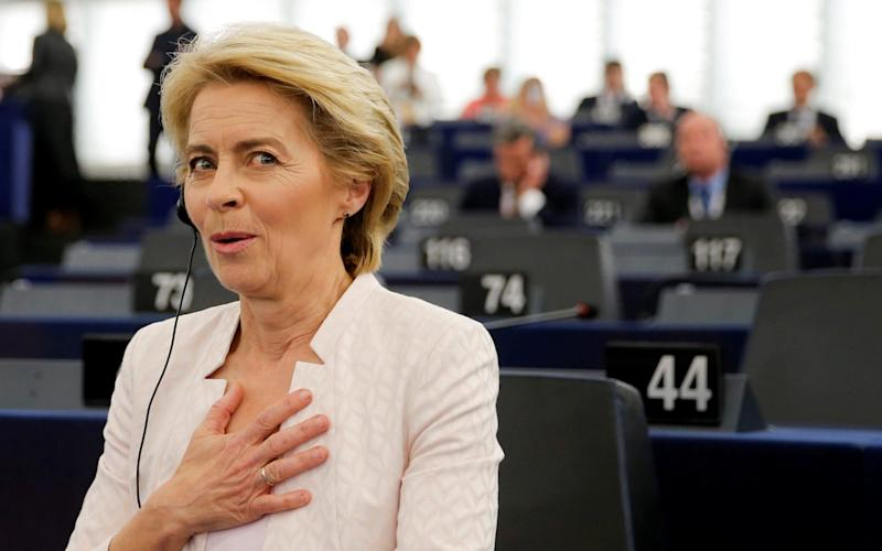 Ursula von der Leyen after her narrow victory by just nine votes in the European Parliament, which confirmed her as the first female president of the European Commission. - REUTERS