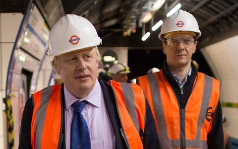 <span>Boris Johnson (left) and George Osborne, back when they were Mayor of London and Chancellor of the Exchequer respectively</span> <span>Credit: Stefan Rousseau/ PA </span>