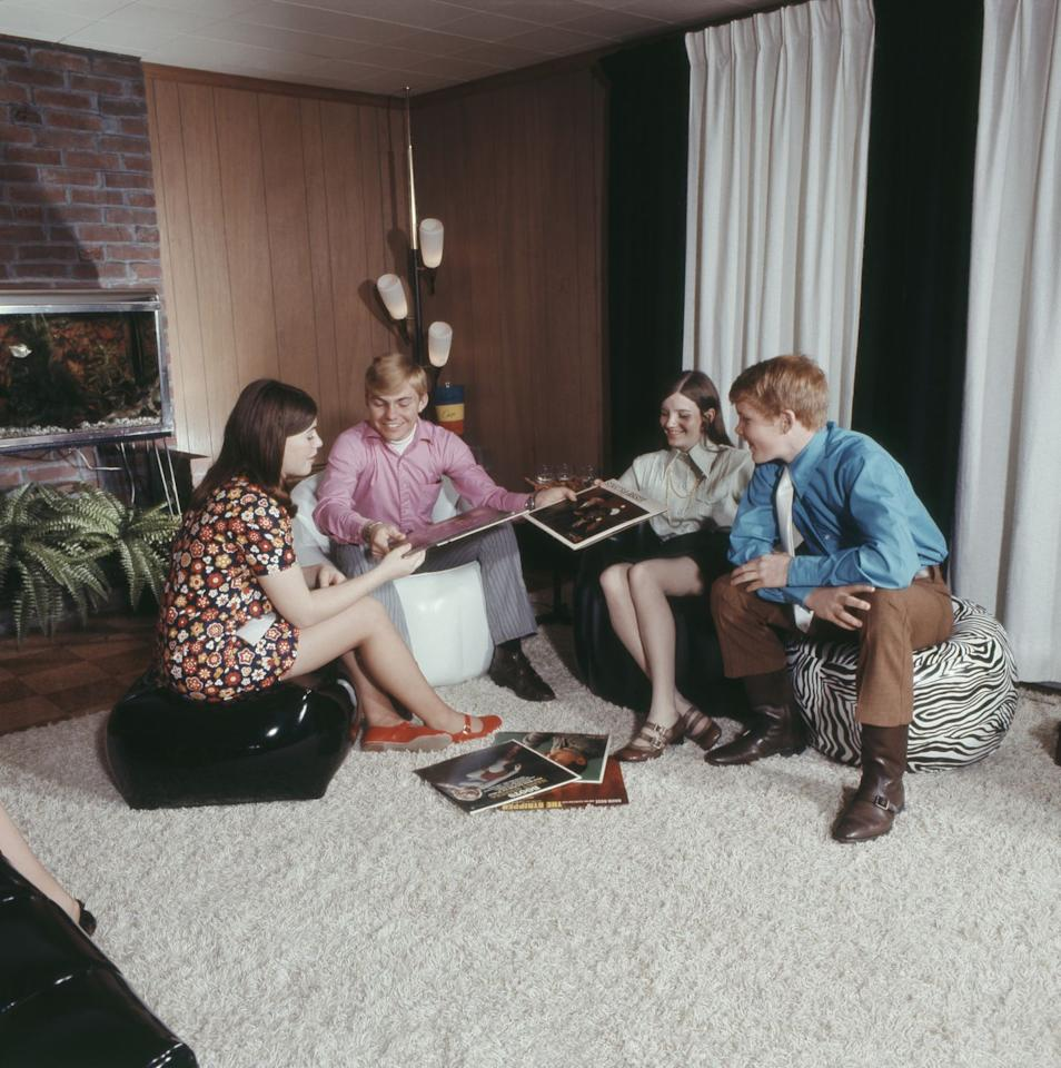 <p>No home in the 70s would have been complete without a few bean bag chairs thrown around the basement. Sure they were comfy, but how did anyone ever get out of them?</p>
