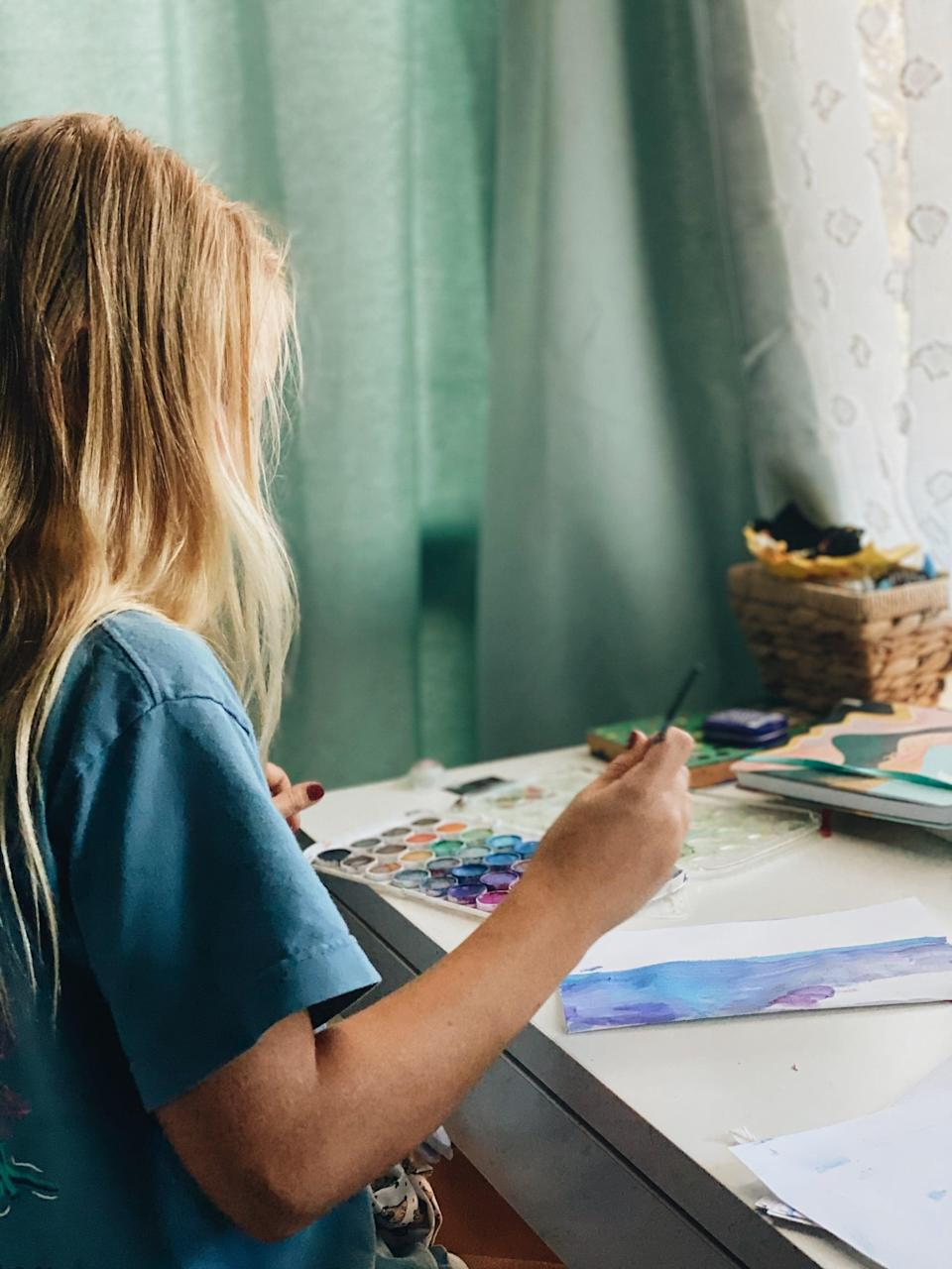 """<p>Sometimes, you just need a space to let loose and get creative. Even if you're not a certified artist, art-based activities like painting, expressive writing, and dance have been <a href=""""http://www.ncbi.nlm.nih.gov/pmc/articles/PMC2804629/"""" class=""""link rapid-noclick-resp"""" rel=""""nofollow noopener"""" target=""""_blank"""" data-ylk=""""slk:proven to have positive effects on mental health"""">proven to have positive effects on mental health</a>.</p>"""