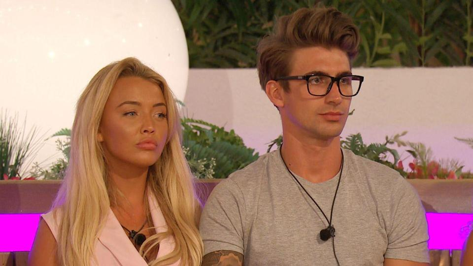 """<p><strong>Relationship status: <strong>Broken up / </strong>Mugged off</strong></p><p>In August, just weeks after the series finished, Chris and Harley became the first 2019 couple to <a href=""""https://www.cosmopolitan.com/uk/entertainment/a28709921/love-islands-chris-taylor-harley-brash-split/"""" rel=""""nofollow noopener"""" target=""""_blank"""" data-ylk=""""slk:call time on their relationship."""" class=""""link rapid-noclick-resp"""">call time on their relationship.</a> Chris took to Instagram to explain that they were simply """"too busy with separate opportunities"""" to make it work. Sad times.</p>"""