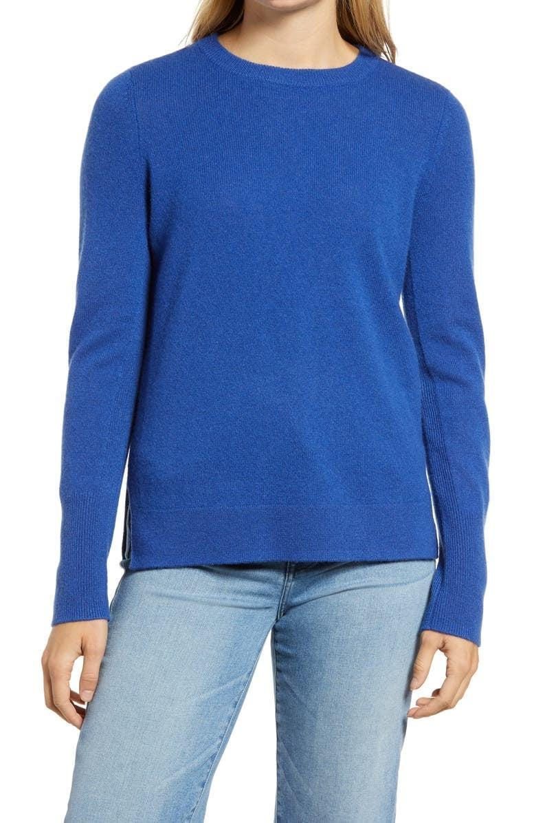 <p>This popular <span>Halogen Crewneck Cashmere Sweater</span> ($49, originally $98) comes in a number of both vibrant and neutral color choices.</p>