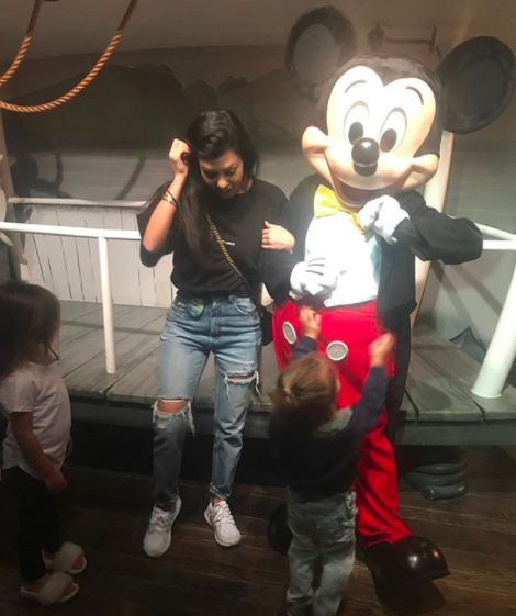 "<p>""Just call me Minnie,"" the unabashed Disney fan captioned a photograph with the company's signature character. (Photo: <a href=""https://www.instagram.com/p/BTFQDXQDSFZ/?taken-by=kourtneykardash"" rel=""nofollow noopener"" target=""_blank"" data-ylk=""slk:Kourtney Kardashian via Instagram"" class=""link rapid-noclick-resp"">Kourtney Kardashian via Instagram</a>) </p>"