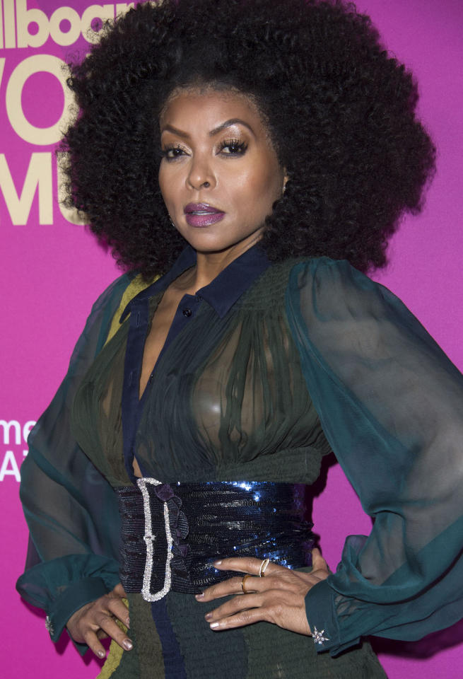 <p>Taraji P. Henson at the <em>Billboard</em> Women in Music Awards on Nov. 30, 2017, in Hollywood, Calif. (Photo: Valerie Macon/AFP/Getty Images) </p>