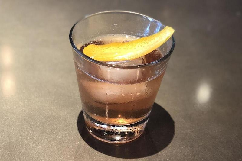 Cinnamon and Almond Spiced Old Fashioned (Louie Bossi's Ristorante Bar Pizzeria)