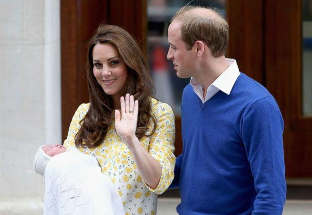 PHOTO: Catherine, Duchess of Cambridge and Prince William, Duke of Cambridge depart the Lindo Wing with their newborn daughter, Princess Charlotte, at St Mary's Hospital on May 2, 2015 in London. (Chris Jackson/Getty Images)