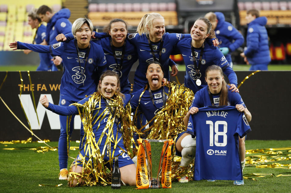 Chelsea will now hope to sweep domestic silverware, in control as they are of the Barclays FA Women's Super League
