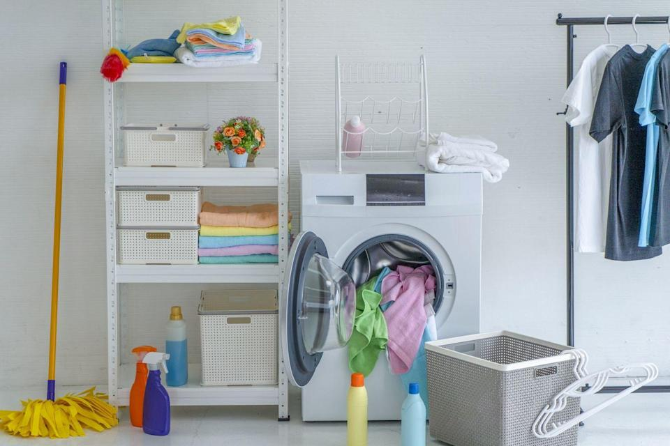 <p>If you store your washer and dryer inside a closet space with doors, those doors are key to keeping the noise down. But what you may not realize is that they also play a role in preventing dust and debris from circulating throughout the house. </p><p>Louvered or slatted doors allow dust particles to escape and can cause your HVAC system to need maintenance more frequently. Lynch recommends an easy DIY that fixes this problem. Swap out a louvered door for a solid door. Also, consider adding a hook to hang an ironing board directly to the door, instead of storing it on the side. This keeps it always within reach without taking up additional space.<br></p>