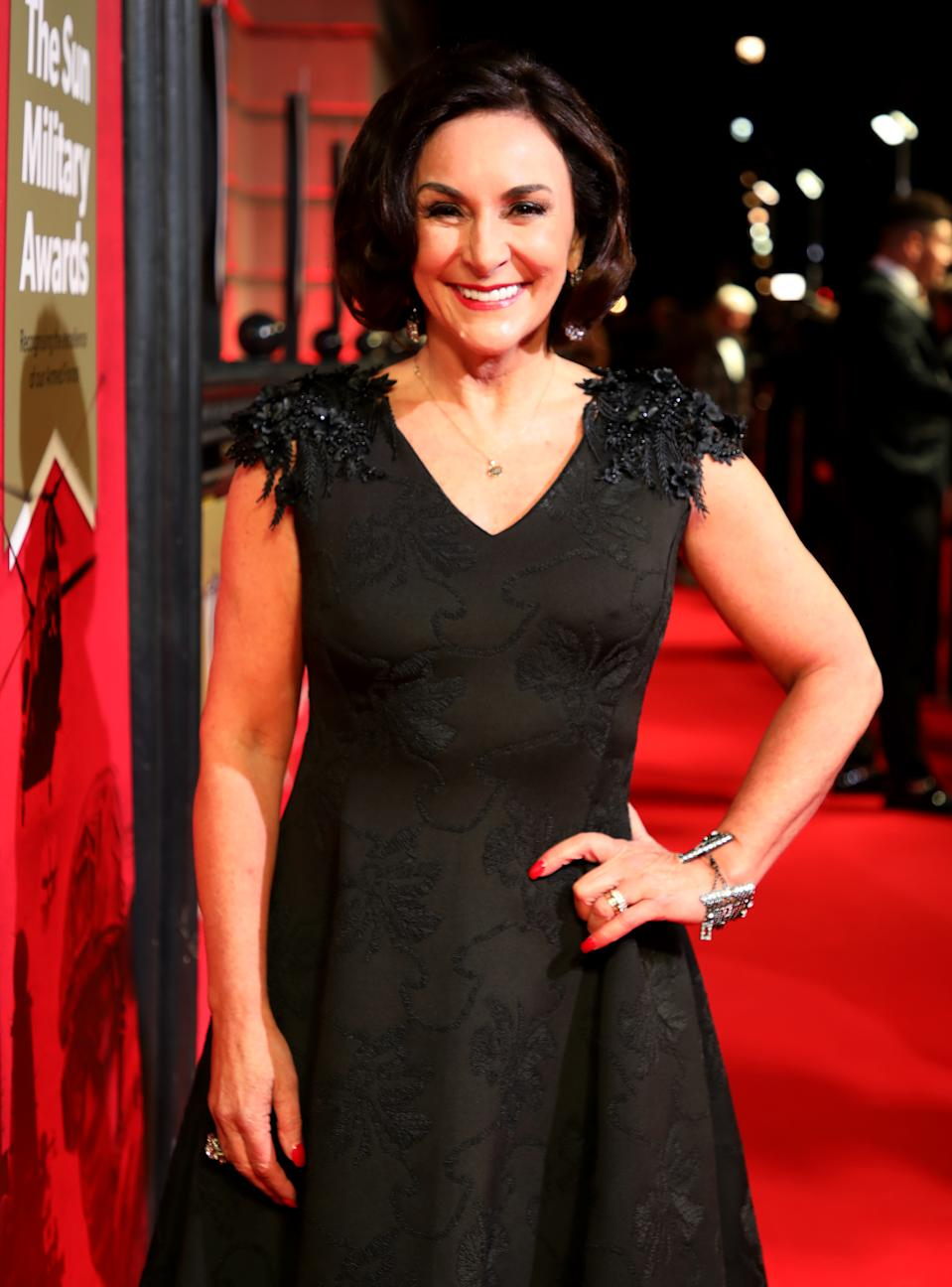 Shirley Ballas attending The Sun Military Awards 2020 held at the Banqueting House, London.