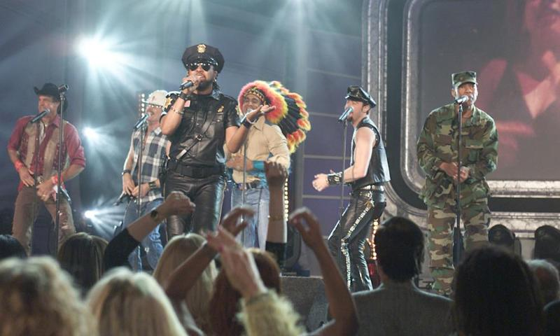 The Village People on stage