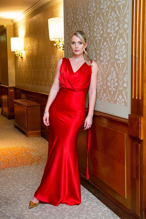 lady-kitty-spencer-red-dress-stairs